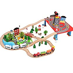 Kinder Holzeisenbahn